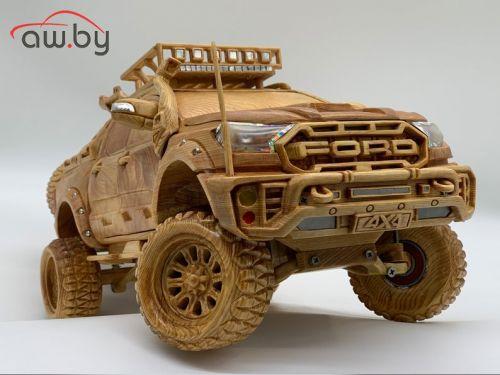 Пикап Ford Ranger из дерева оценили в 150 тысяч рублей