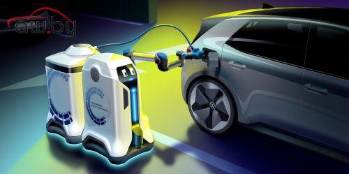 Volkswagen научил робота заряжать электромобили